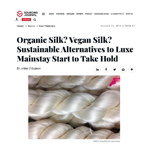 Organic Silk? Vegan Silk? Sustainable Alternatives to Luxe Mainstay Start to Take Hold