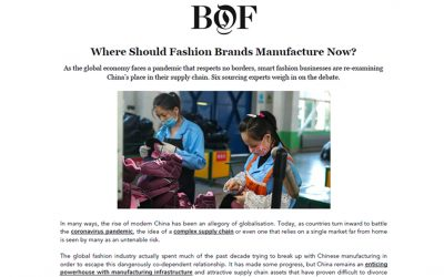 Where Should Fashion Brands Manufacture Now?