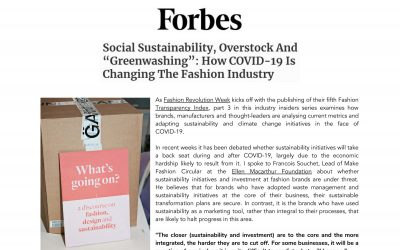 Social Sustainability, Overstock And 'Greenwashing': How COVID-19 Is Changing The Fashion Industry